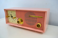 Load image into Gallery viewer, SOLD! - May 28, 2019 - Capri Pink Motorola 1957 Model 5C13P Clock Radio - [product_type} - Motorola - Retro Radio Farm