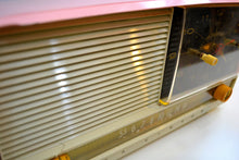 Load image into Gallery viewer, Pretty in Pink and White 1956 RCA Victor 8-C-7FE Vintage Tube AM Clock Radio Works Great! - [product_type} - RCA Victor - Retro Radio Farm