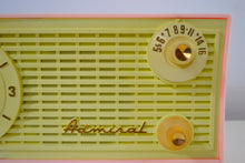 Load image into Gallery viewer, SOLD! - Feb 20, 2019 - Vintage Pink and White 1955 Admiral 5C4 AM Clock Radio Works! - [product_type} - Admiral - Retro Radio Farm