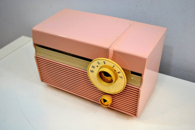 Madison Pink Mid Century 1959 Philco Model F813-124 Tube AM Radio Cuteness Overload! - [product_type} - Philco - Retro Radio Farm
