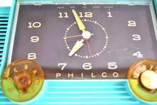 Load image into Gallery viewer, Ocean Turquoise 1959 Philco Model H764-124 AM Tube Clock Radio Totally Restored! - [product_type} - Philco - Retro Radio Farm