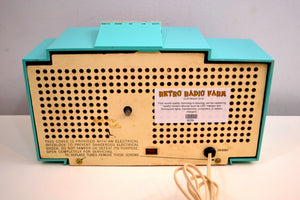 Ocean Turquoise 1959 Philco Model H764-124 AM Tube Clock Radio Totally Restored! - [product_type} - Philco - Retro Radio Farm