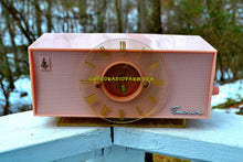 Load image into Gallery viewer, SOLD! - Feb 27, 2018 - TIFFANY PINK Mid Century Vintage Retro 1956 Emerson 826 Tube AM Clock Radio Totally Restored! - [product_type} - Emerson - Retro Radio Farm