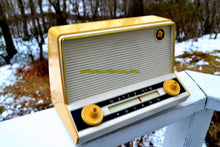 Load image into Gallery viewer, SOLD! - Apr 8, 2018 - BLUETOOTH MP3 Ready - Meringue Yellow Mid Century Retro Vintage 1955 Roland Model 51184 Tube AM Radio Near Mint! - [product_type} - Roland - Retro Radio Farm