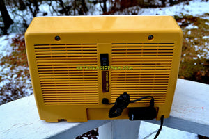 SOLD! - Apr 8, 2018 - BLUETOOTH MP3 Ready - Meringue Yellow Mid Century Retro Vintage 1955 Roland Model 51184 Tube AM Radio Near Mint! - [product_type} - Roland - Retro Radio Farm