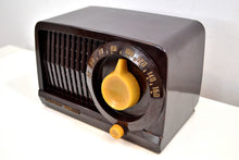 Load image into Gallery viewer, SOLD! - Feb 21, 2020 - Mocha Brown Bakelite Vintage 1952 Stewart Warner Model 9160 Vacuum Tube Radio Sweet Little Tunester! - [product_type} - Stewart Warner - Retro Radio Farm