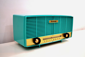 SOLD! - Mar 5, 2020 - Super Seafoam Green 1950s Firestone Model 4-A-188 Vintage AM Vacuum Tube Radio Mint Condition! - [product_type} - Firestone - Retro Radio Farm