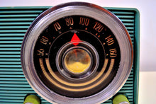 Load image into Gallery viewer, SOLD! - Jan. 8, 2020 - Powder Grey Blue Vintage 1963 Motorola Model A18B49 AM Tube Radio