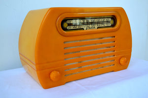 Gorgeous Golden Catalin 1945 Fada Temple Model 652 AM Radio, Pure Gold! - [product_type} - Fada - Retro Radio Farm
