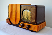 Load image into Gallery viewer, Maroon Red and Yellow Waterfall 1947 Addison Model B2E Catalin AM Vacuum Tube Radio Breathtaking! - [product_type} - Addison - Retro Radio Farm