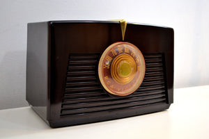 Arabica Brown Vintage 1949 RCA Victor Model 8X541 AM Vacuum Tube Radio Popular Model In Its Day and Today! - [product_type} - RCA Victor - Retro Radio Farm