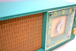 Seafoam Green Supreme Silvertone 1956 Model 7008 AM Tube Radio An Eyeful and Earful of 50s Charm!! - [product_type} - Silvertone - Retro Radio Farm