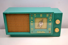 Load image into Gallery viewer, Seafoam Green Supreme Silvertone 1956 Model 7008 AM Tube Radio An Eyeful and Earful of 50s Charm!! - [product_type} - Silvertone - Retro Radio Farm