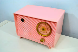 Shell Pink Vintage 1956 RCA Victor 6-X-5 Tube AM Radio - [product_type} - RCA Victor - Retro Radio Farm