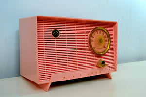 SOLD! - Jan. 8, 2020 - Shell Pink Vintage 1956 RCA Victor 6-X-5 Tube AM Radio - Simply Fabulous - [product_type} - RCA Victor - Retro Radio Farm