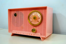 Load image into Gallery viewer, Shell Pink Vintage 1956 RCA Victor 6-X-5 Tube AM Radio - Simply Fabulous. - [product_type} - RCA Victor - Retro Radio Farm