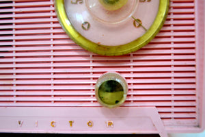 Shell Pink Vintage 1956 RCA Victor 6-X-5 Tube AM Radio - Simply Fabulous. - [product_type} - RCA Victor - Retro Radio Farm