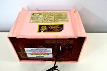 Load image into Gallery viewer, Shell Pink Vintage 1956 RCA Victor 6-X-5 Tube AM Radio - [product_type} - RCA Victor - Retro Radio Farm