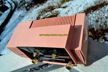 Load image into Gallery viewer, SOLD! - Mar 5, 2018 - ROSE PINK Mid Century Jetsons 1959 General Electric Model 915 Tube AM Clock Radio Near Mint! - [product_type} - General Electric - Retro Radio Farm