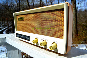 SOLD! - Oct 25, 2018 - Toffee Tan Mid Century Vintage 1959 AMC Model 2585 Tube Radio Almost Mint and Very Sweet!