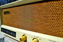 TOFFEE TAN Mid Century Vintage 1959 AMC Model 2585 Tube Radio Almost Mint and Very Sweet!