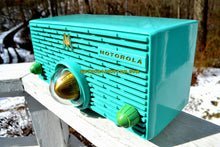 Load image into Gallery viewer, SOLD! - Aug 28, 2018 - Turquoise Mid Century Retro Jetsons 1957 Motorola 56H Turbine Tube AM Radio Works And Looks Amazing! - [product_type} - Motorola - Retro Radio Farm