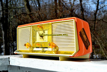 Load image into Gallery viewer, SOLD! - Sept 1, 2018 - Bonneville Pink 1958 Silvertone Model 9029 AM Clock Radio Dual Speaker Rare Near Mint!