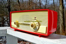 Load image into Gallery viewer, SOLD! - July 21, 2018 - VERY BERRY RED 1959 Admiral 275 Tube AM Clock Radio Awesome Design Sounds Great! Rare Color! - [product_type} - Admiral - Retro Radio Farm