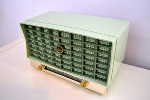 SOLD! - Mar 8, 2019 - Mint Green Vintage 1953 RCA Victor 6-XD-5 Tube Radio Pristine Condition Works Great! - [product_type} - RCA Victor - Retro Radio Farm