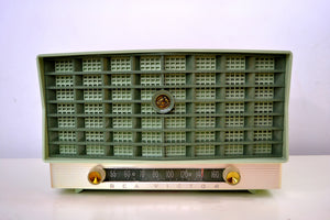 SOLD! - Mar 8, 2019 - Mint Green Vintage 1953 RCA Victor 6-XD-5 Tube Radio Pristine Condition Works Great!