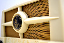 Load image into Gallery viewer, Casablanca Ivory 1949  Emerson Model 587 AM Vacuum Tube Radio Great Sounding Fine Looking! - [product_type} - Emerson - Retro Radio Farm