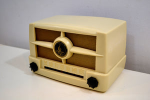 Casablanca Ivory 1949  Emerson Model 587 AM Vacuum Tube Radio Great Sounding Fine Looking! - [product_type} - Emerson - Retro Radio Farm
