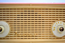 Load image into Gallery viewer, Vintage Rose Pink and White 1955 Admiral 5C4 AM Clock Radio Works Great! - [product_type} - Admiral - Retro Radio Farm