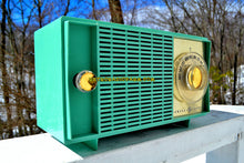 Load image into Gallery viewer, SOLD! - Mar 14, 2018 - BLUETOOTH MP3 READY SEA GREEN Mid Century Vintage 1959 General Electric Model T-129C Tube Radio - [product_type} - General Electric - Retro Radio Farm