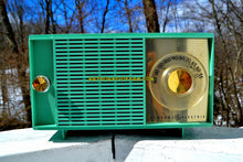 Load image into Gallery viewer, SOLD! - Mar 14, 2018 - BLUETOOTH MP3 READY SEA GREEN Mid Century Vintage 1959 General Electric Model T-129C Tube Radio