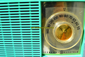 SOLD! - Mar 14, 2018 - BLUETOOTH MP3 READY SEA GREEN Mid Century Vintage 1959 General Electric Model T-129C Tube Radio