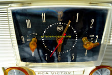 Load image into Gallery viewer, SOLD! - Dec 1, 2018 - Chinook Pink 1957 RCA Victor Model 3RD49 AM Tube Clock Radio - [product_type} - RCA Victor - Retro Radio Farm