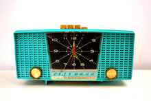 Load image into Gallery viewer, Ocean Turquoise Seafoam 1959 Electrohome Model 5C-18 AM Tube Clock Radio Totally Restored! - [product_type} - Electrohome - Retro Radio Farm