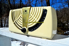 ANTIQUE IVORY White 1946 Zenith Consol-Tone Model 6-D-015 AM Tube Radio Looks Great!