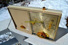 Load image into Gallery viewer, SOLD! - June 29, 2018 - SANDALWOOD Beige and White 1959 Philco Model K782-124 AM Tube Clock Radio Totally Restored! - [product_type} - Philco - Retro Radio Farm