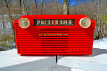 Load image into Gallery viewer, SOLD! - July 26, 2018 - VERMILION Red 1952 Admiral 5G35N AM Tube Radio Stunning Rare and Totally Restored! - [product_type} - Admiral - Retro Radio Farm