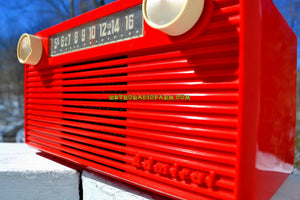SOLD! - July 26, 2018 - VERMILION Red 1952 Admiral 5G35N AM Tube Radio Stunning Rare and Totally Restored! - [product_type} - Admiral - Retro Radio Farm