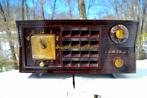 SOLD! - Dec 12, 2018 - BLUETOOTH MP3 Ready - Brown Marbled 1955 Admiral Model 251 AM Tube Retro Radio - [product_type} - Admiral - Retro Radio Farm
