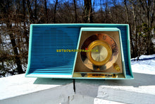 Load image into Gallery viewer, SOLD! - May 6, 2018 - TUXEDO BLUE Mid Century Retro 1962 Motorola A17B3 Tube AM Radio Cool Model Rare Color! Near Mint!