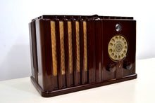Load image into Gallery viewer, Gothic Style 1938 Wards Airline Model 62-476 AM Bakelite Tube Radio Totally Restored! - [product_type} - Airline - Retro Radio Farm