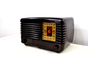 Art Deco Brown Bakelite Vintage 1946 Philco Transitone 46-200 AM Radio Popular Design Back In Its Day! - [product_type} - Philco - Retro Radio Farm