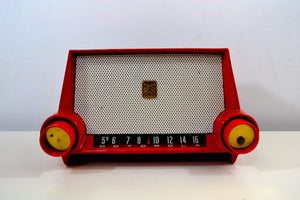 Cimarron Red Dashboard 1953 Motorola 53H Tube AM Radio Excellent Plus Condition! - [product_type} - Motorola - Retro Radio Farm