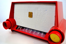 Load image into Gallery viewer, SOLD! - Sept 1, 2019 - Cimarron Red Dashboard 1953 Motorola 53H Tube AM Radio Excellent Plus Condition! - [product_type} - Motorola - Retro Radio Farm