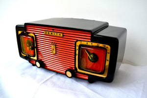 Marzano Red Orange 1953 Zenith Model L622F AM Vintage Tube Radio Gorgeous Looking and Sounding! - [product_type} - Zenith - Retro Radio Farm