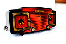 Load image into Gallery viewer, Marzano Red Orange 1953 Zenith Model L622F AM Vintage Tube Radio Gorgeous Looking and Sounding! - [product_type} - Zenith - Retro Radio Farm